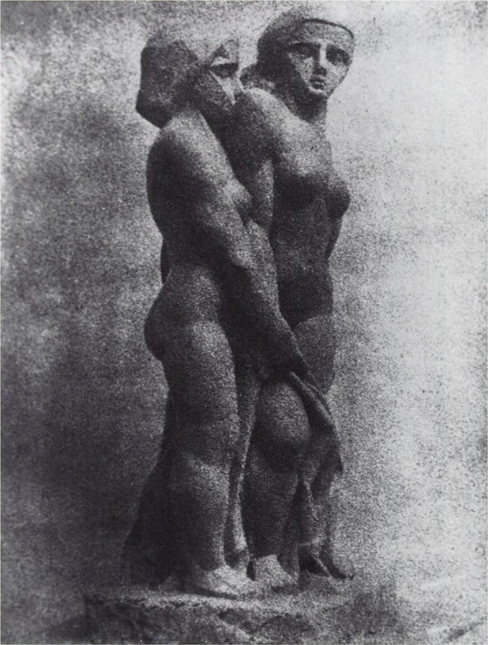 Joseph Csaky, 1911-1912, Deux Femme (Two Women), plaster lost, photo Galerie René Reichard, Frankfurt, 72dpi