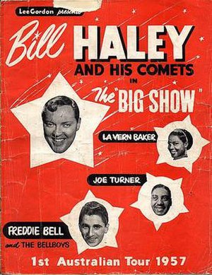 Lee Gordon (promoter) - Image: Lee Gordon Big Show Bill Haley 1957