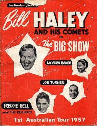 Lee Gordon (promoter) - Image: Lee Gordon Big Show Bill Haley 1957