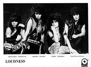 Loudness (band) - Loudness in 1985. Original/Classic 1980–1988, 2001–2008 line up. (l-r) Yamashita, Niihara, Takasaki, Higuchi