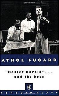 "<i>""Master Harold""...and the Boys</i> 1982 play by Athol Fugard"