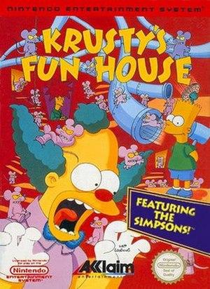 Krusty's Fun House - North American box art of Krusty's Fun House (NES version)