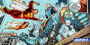 Marvel Family - New Earth 5 from 52 Week 52, art breakdowns by Keith Giffen.