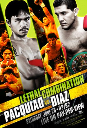 Manny Pacquiao vs. David Díaz - Image: Pacquiao vs Diaz