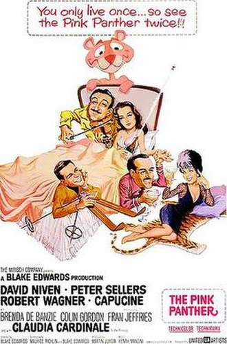 The Pink Panther (1963 film) - Theatrical release poster by Jack Rickard