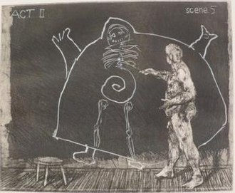 William Kentridge - Image: Print from portfolio 'Ubu Tells the Truth' by William Kentridge, 1996 1997
