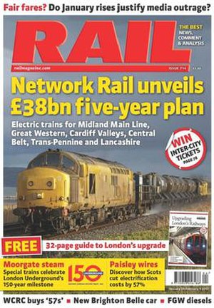 Rail (magazine) - Cover of an issue from January 2013