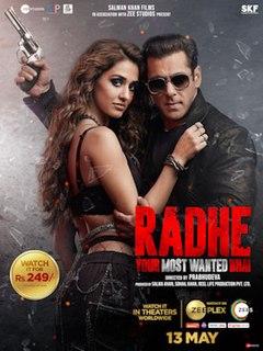<i>Radhe</i> (2021 film) Indian action film by Prabhu Deva