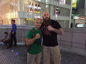 Raymond Rowe - Raymond Rowe in Japan with a fan