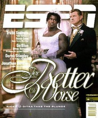 Ricky Williams trade - Williams and Ditka on the cover of ESPN The Magazines issue of August 9, 1999