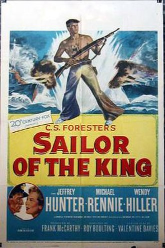 Sailor of the King - US release poster with overseas market name, Sailor of the King.