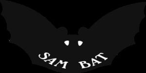 Sam Bat - Image: Sam Bat logo, black