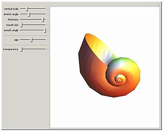 Wolfram Demonstrations Project - Shell growth.