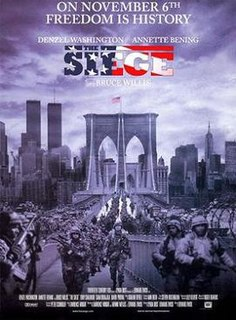 <i>The Siege</i> 1998 film by Edward Zwick