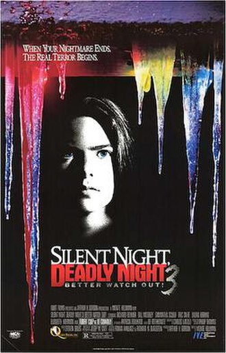 Silent Night, Deadly Night 3: Better Watch Out! - Promotional poster