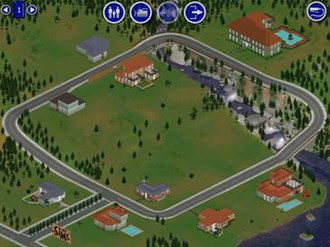 The Sims (video game) - The original neighborhood in The Sims consists of a single screen displaying all playable houses.