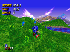 "Sonic X-treme - Screenshot from Coffin's ""boss engine"""