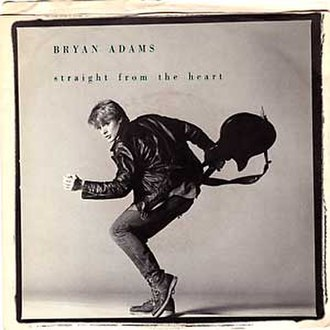Straight from the Heart (song) - Image: Straight From the Heart (Bryan Adams single cover art)