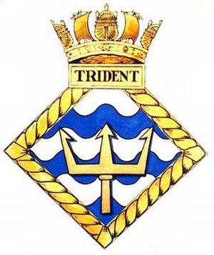 HMS Trident (N52) - Image: TRIDENT badge 1