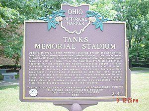 Ironton Tanks - Image: Tanks marker 1