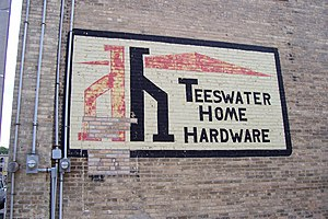 Teeswater, Ontario - The sign for Teeswater Home Hardware