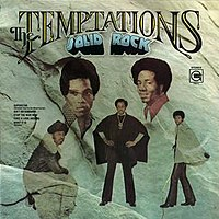 Solid Rock, the first studio album featuring Richard Street and Damon Harris, featured the new members prominently on its front cover. Pictured L-R: Damon Harris, Richard Street (top row), Otis Williams, Melvin Franklin, Dennis Edwards (bottom)