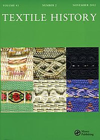 Textile History journal front cover, Nov 2012.jpg