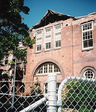 Merewether, New South Wales - Earthquake damage to The Junction School, April 1990.