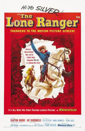 The Lone Ranger (1956 film) - Theatrical release poster