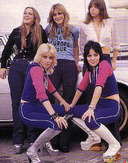 The Runaways American all-female rock band from Los Angeles