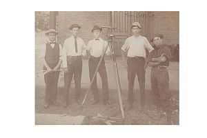 Thomas F. Breslin - With a Surveying Team in the white hat