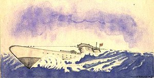 Watercolor of U-352