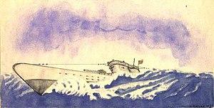 German submarine U-352 - Image: U352 B