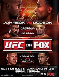 A poster or logo for UFC on Fox: Johnson vs. Dodson.