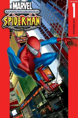 Ultimate Spider-Man - First issue of Ultimate Spider-Man. Cover by Joe Quesada.