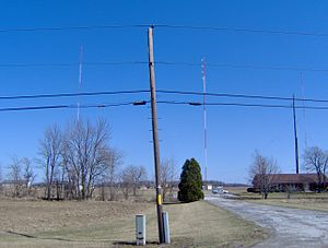 WFOB - WFOB and WBVI transmitter site, at 1407 U.S. Route 23, south of Fostoria. This building had served as the WFOB and WBVI studios and offices for many years prior to the downtown move.