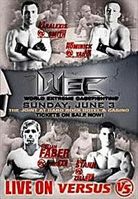 A poster or logo for WEC 28: Faber vs. Farrar.