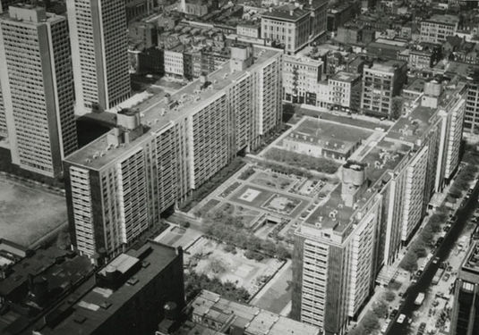 An Aerial View Of Washington Square Village