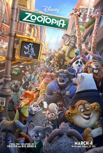 Zootopia - Theatrical release poster