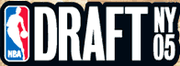 The 2005 NBA Draft logo