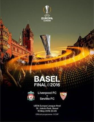 2016 UEFA Europa League Final - Image: 2016 UEFA Europa League Final programme