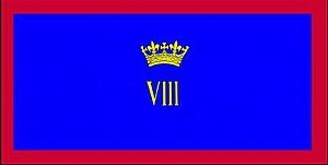 8th Canadian Hussars (Princess Louise's) - The camp flag of the 8th Canadian Hussars (Princess Louise's).