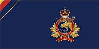 The Algonquin Regiment - The camp flag of the Algonquin Regiment.