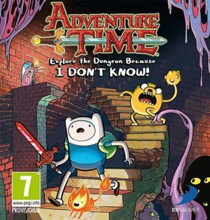 Adventure Time: Explore the Dungeon Because I Don't Know! - European box art