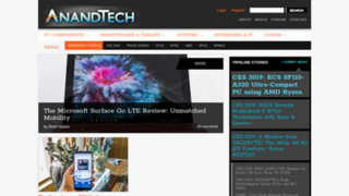 <i>AnandTech</i> Online computer hardware magazine owned by Future plc