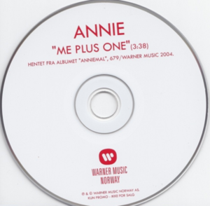 Me Plus One (Annie song) - Image: Annie Me Plus One