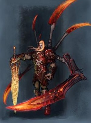 God of War (2005 video game) - Artwork of Ares, the main antagonist.
