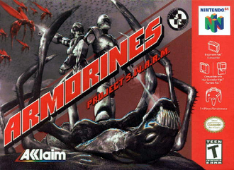 Armorines: Project S.W.A.R.M. - North American Nintendo 64 cover art