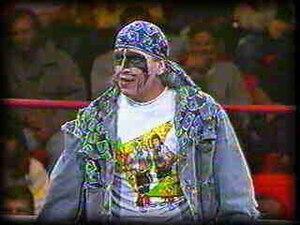 "Art Barr - Barr as ""Beetlejuice"" (or The Juicer) in World Championship Wrestling during 1990."