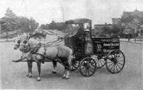 A horse drawn Bromo Seltzer wagon.